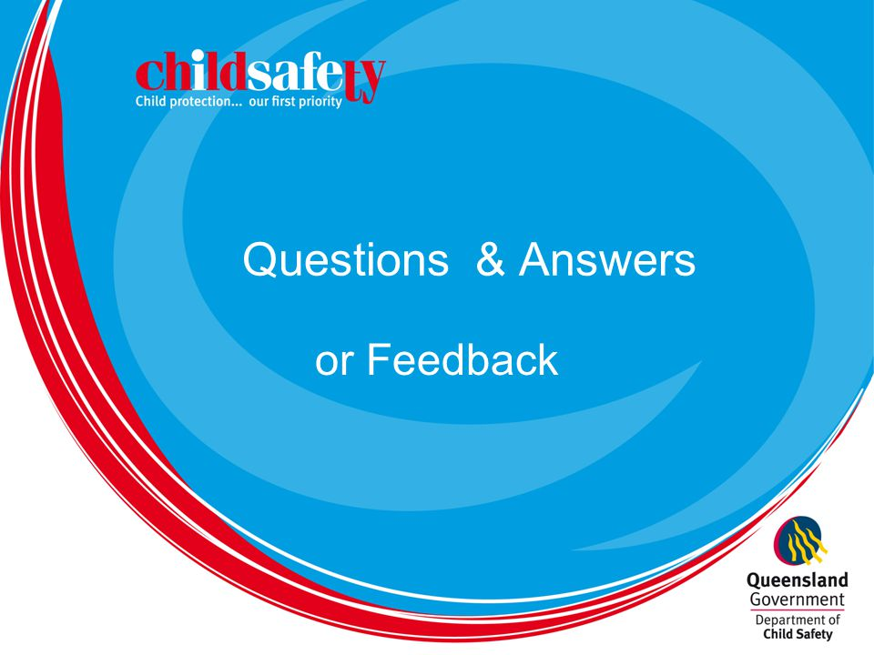 Questions & Answers or Feedback
