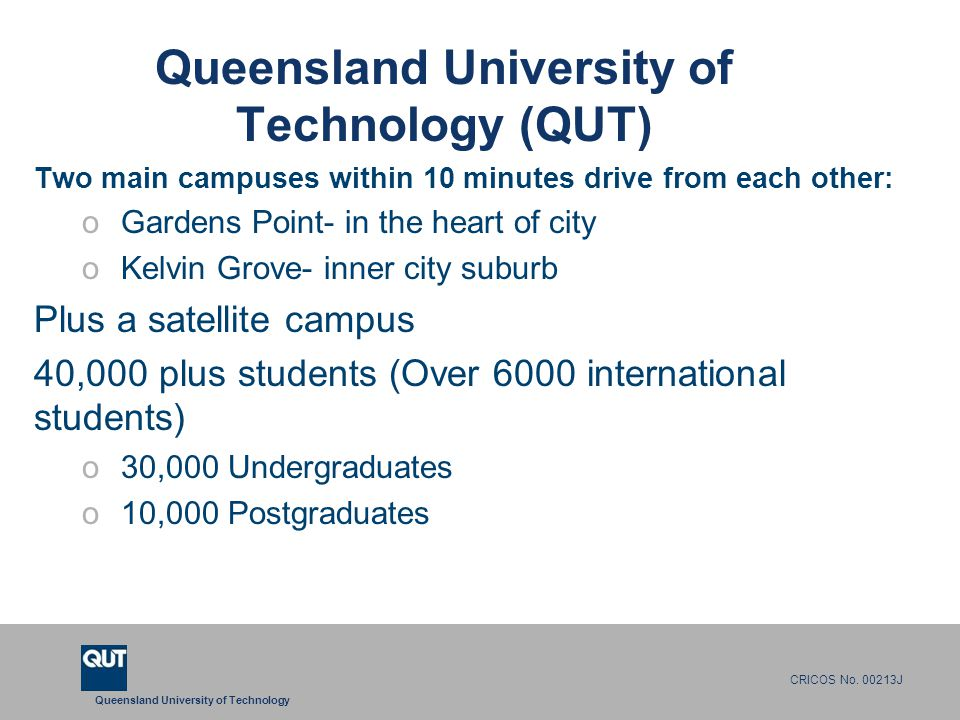 Queensland University of Technology CRICOS No.