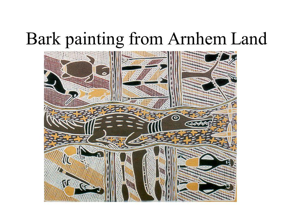 Bark painting from Arnhem Land