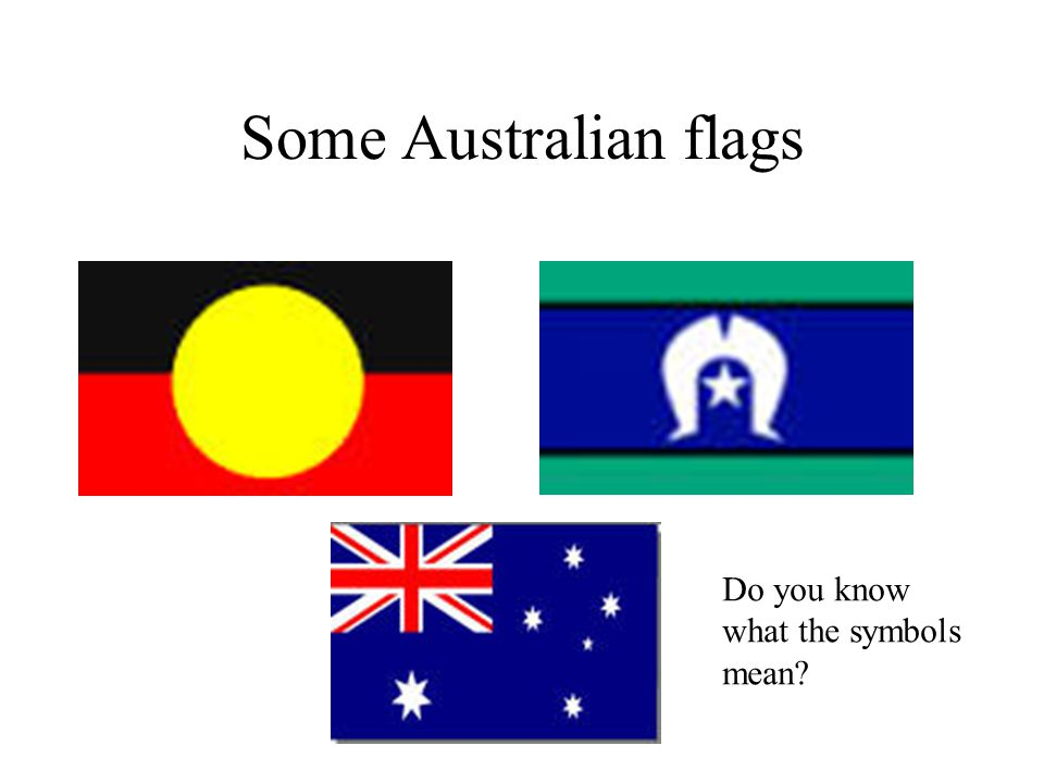 Some Australian flags Do you know what the symbols mean