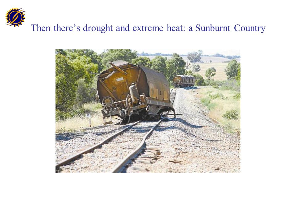 Then there's drought and extreme heat: a Sunburnt Country