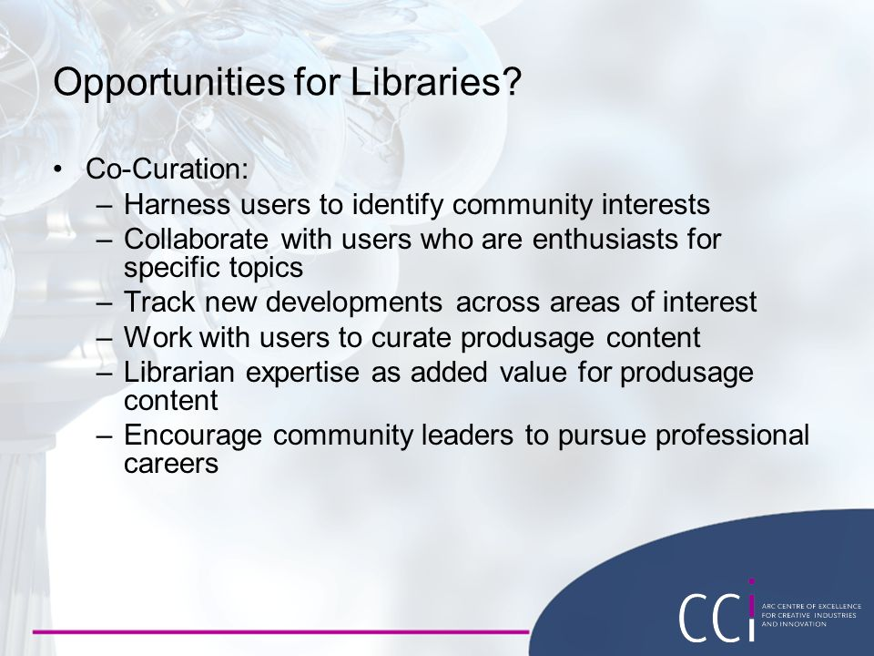 Opportunities for Libraries.