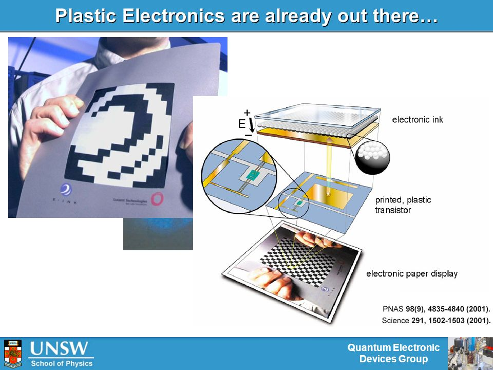 Quantum Electronic Devices Group Plastic Electronics are already out there…