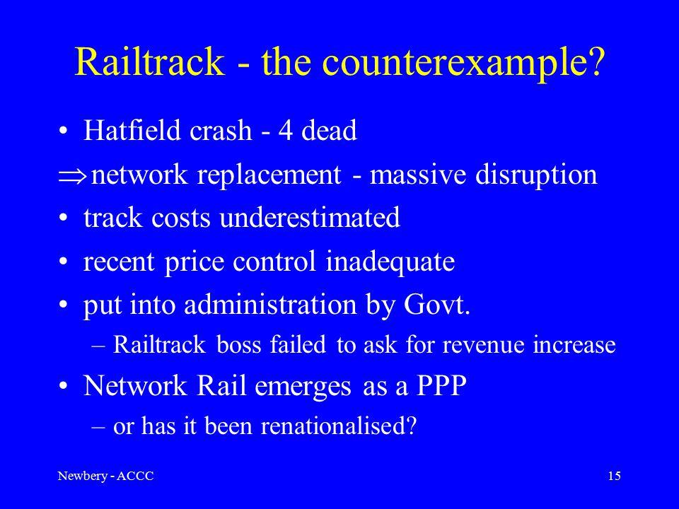 Newbery - ACCC15 Railtrack - the counterexample.