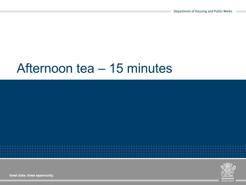 Afternoon tea – 15 minutes