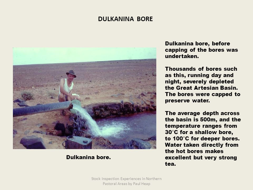 Dulkanina bore, before capping of the bores was undertaken.