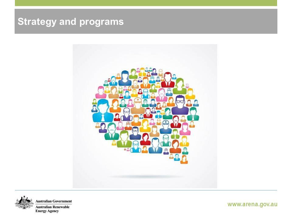 www.arena.gov.au Strategy and programs
