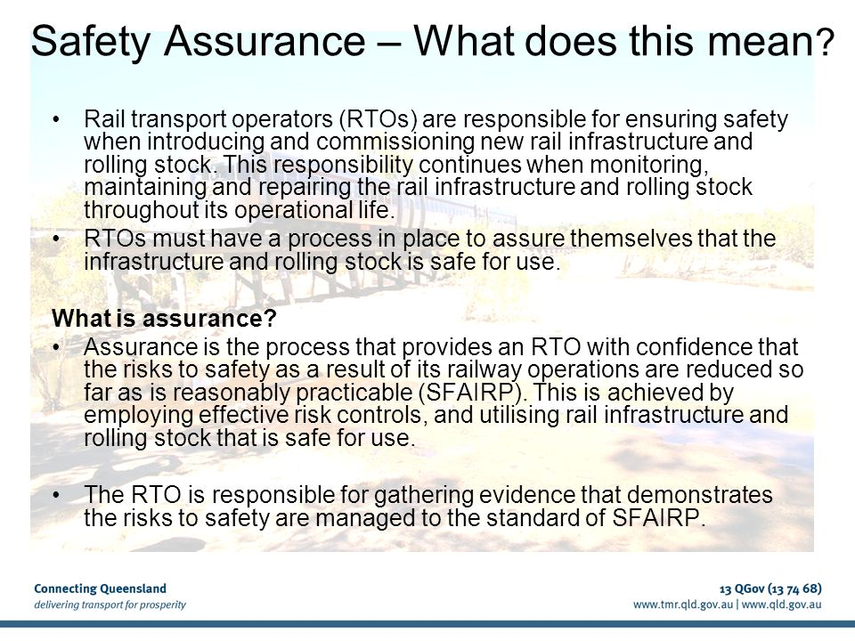 Safety Assurance – What does this mean .