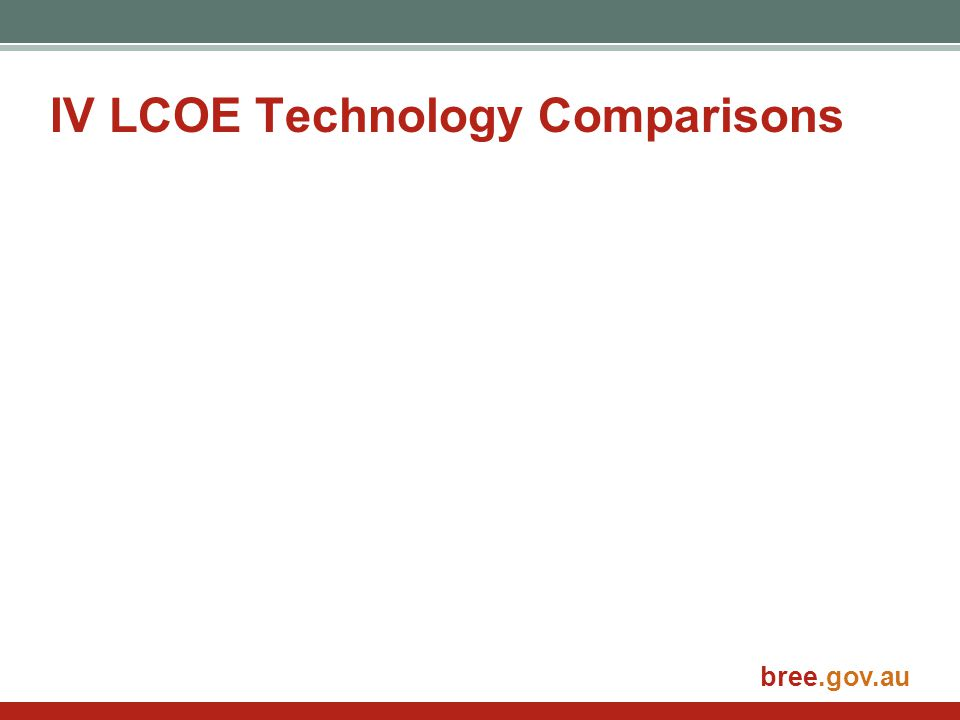 bree.gov.au IV LCOE Technology Comparisons