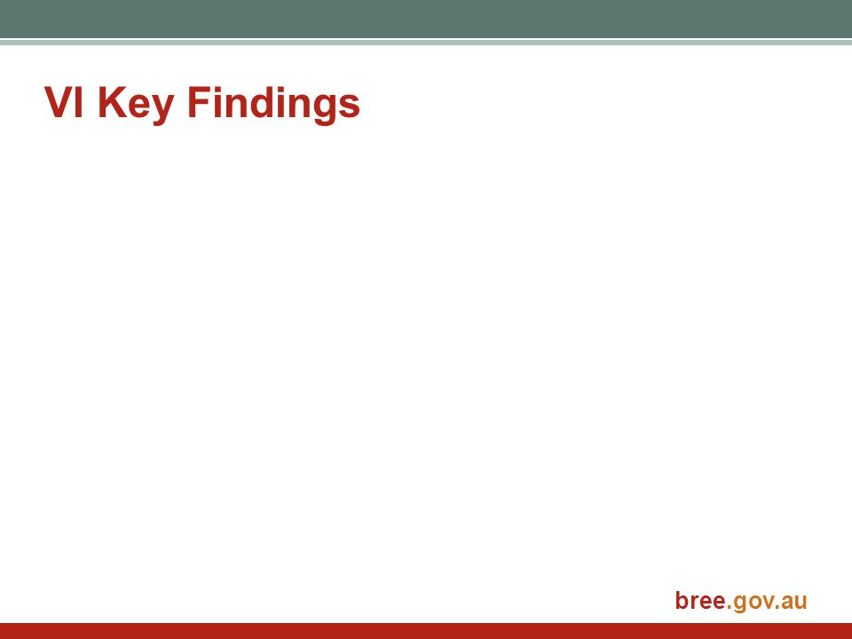 bree.gov.au VI Key Findings