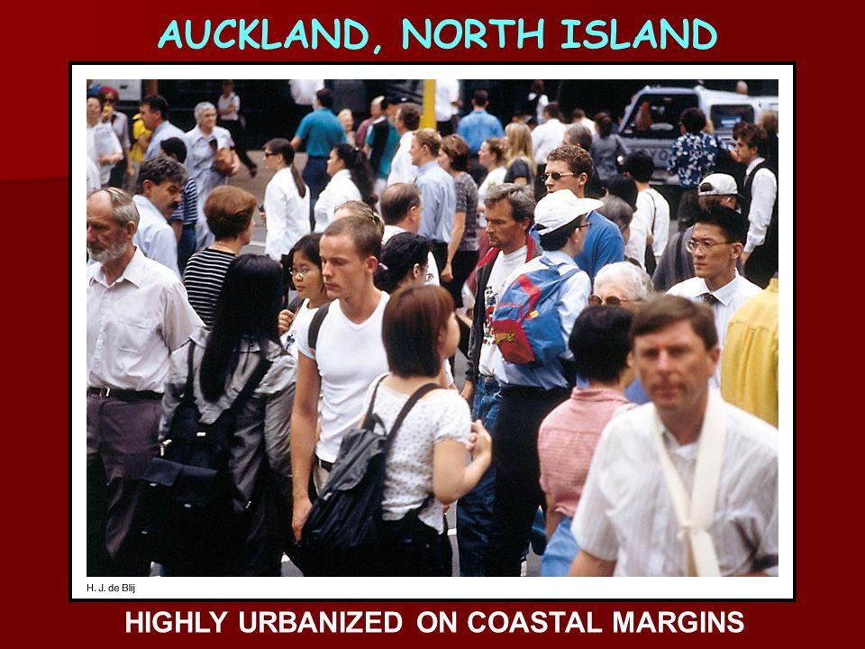 HIGHLY URBANIZED ON COASTAL MARGINS AUCKLAND, NORTH ISLAND