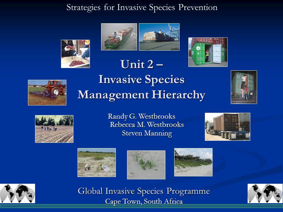 Unit 2 – Invasive Species Management Hierarchy Randy G.