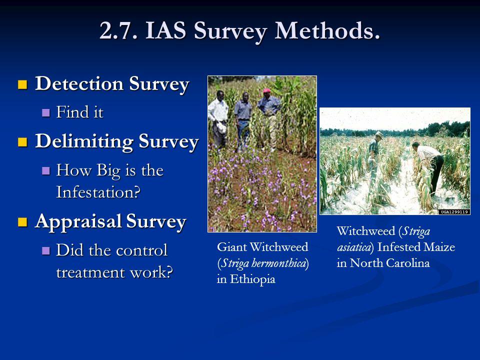 2.7. IAS Survey Methods.