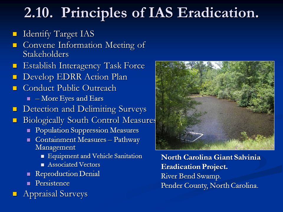 2.10. Principles of IAS Eradication.
