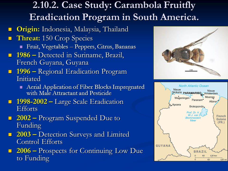 2.10.2. Case Study: Carambola Fruitfly Eradication Program in South America.