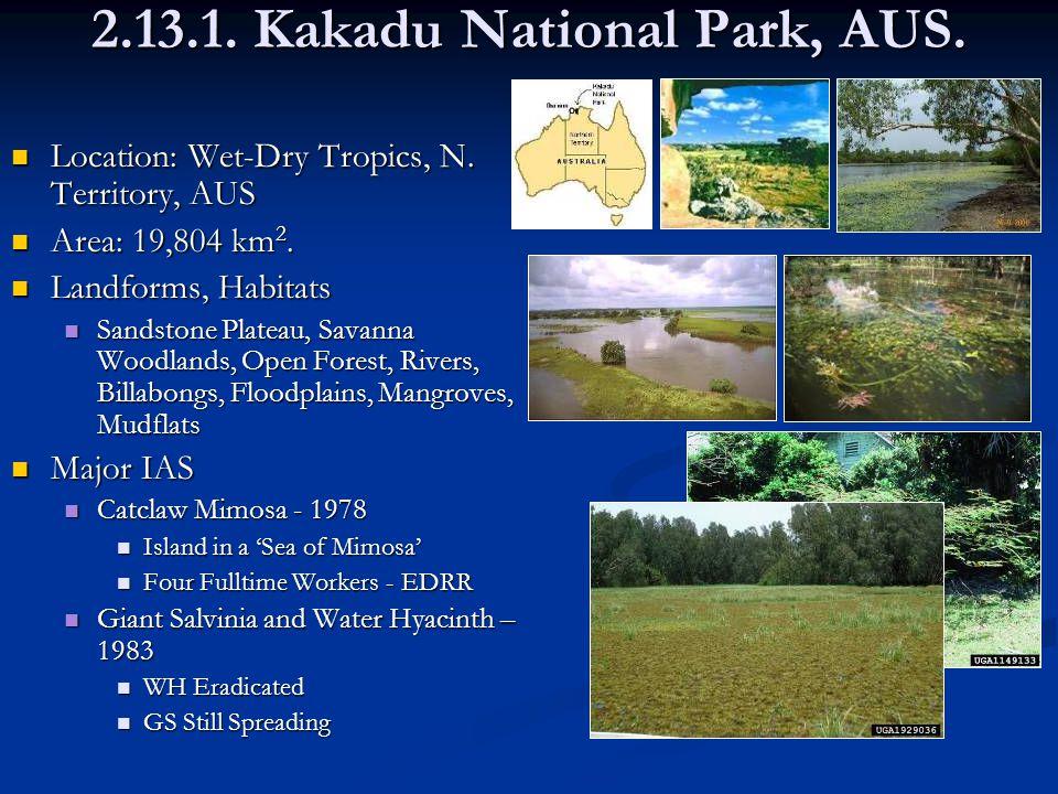 2.13.1. Kakadu National Park, AUS. Location: Wet-Dry Tropics, N.