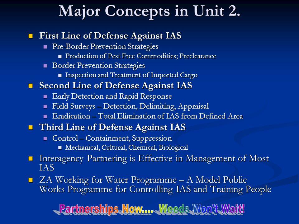 Major Concepts in Unit 2.