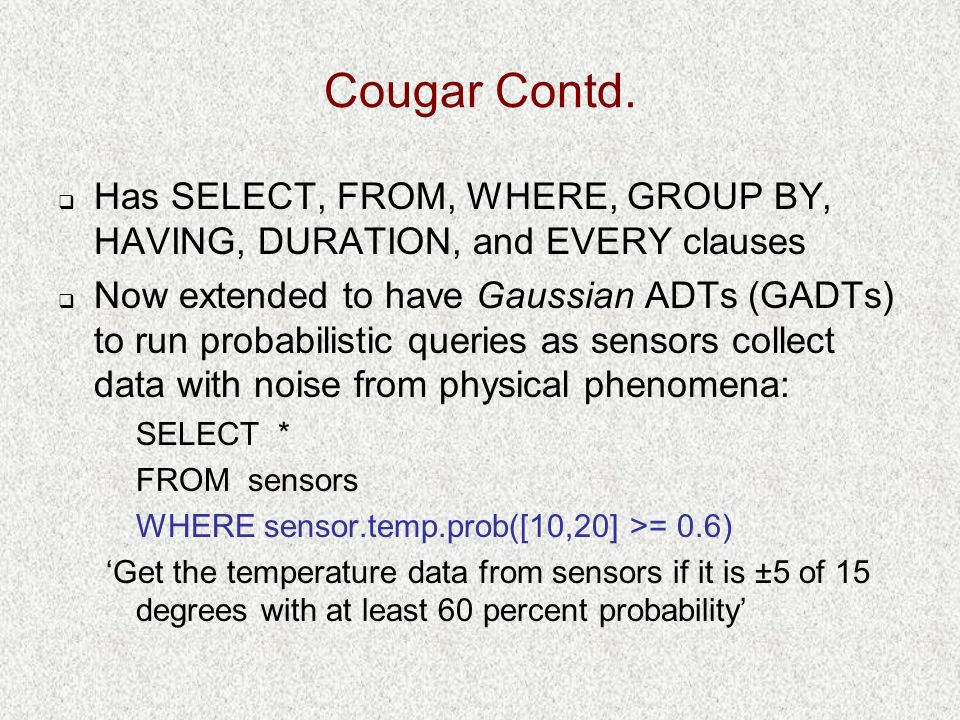 Cougar Contd.