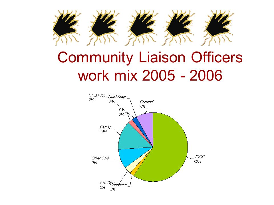 Community Liaison Officers work mix 2005 - 2006
