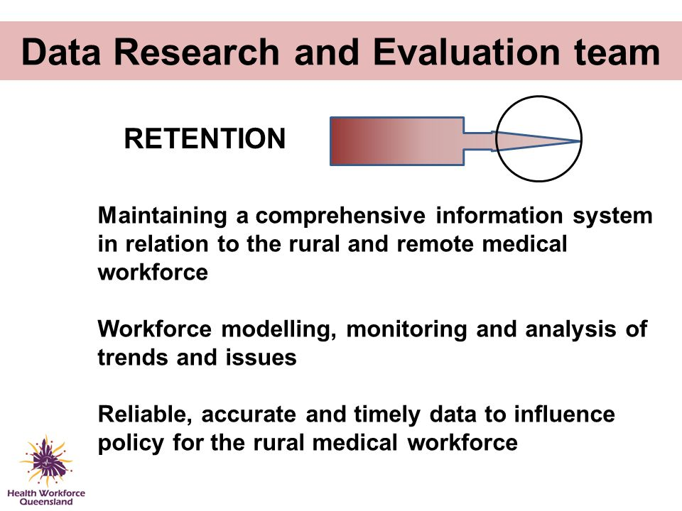 Data Research and Evaluation team Maintaining a comprehensive information system in relation to the rural and remote medical workforce Workforce model