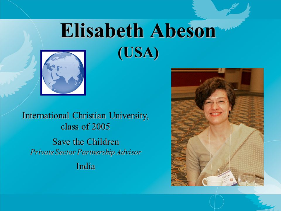 Cherine Badawi (USA/Egypt) International Christian University, class of 2007 The Scholar Ship Experiential Education Coordinator Sailing around the world, based in Greece