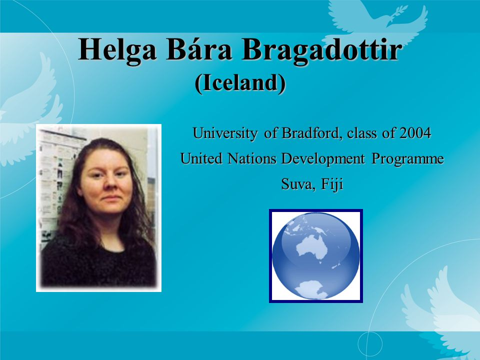 Danielle Reiff (USA) Sciences Po, class of 2004 USAID Foreign Service Officer Baghdad, Iraq