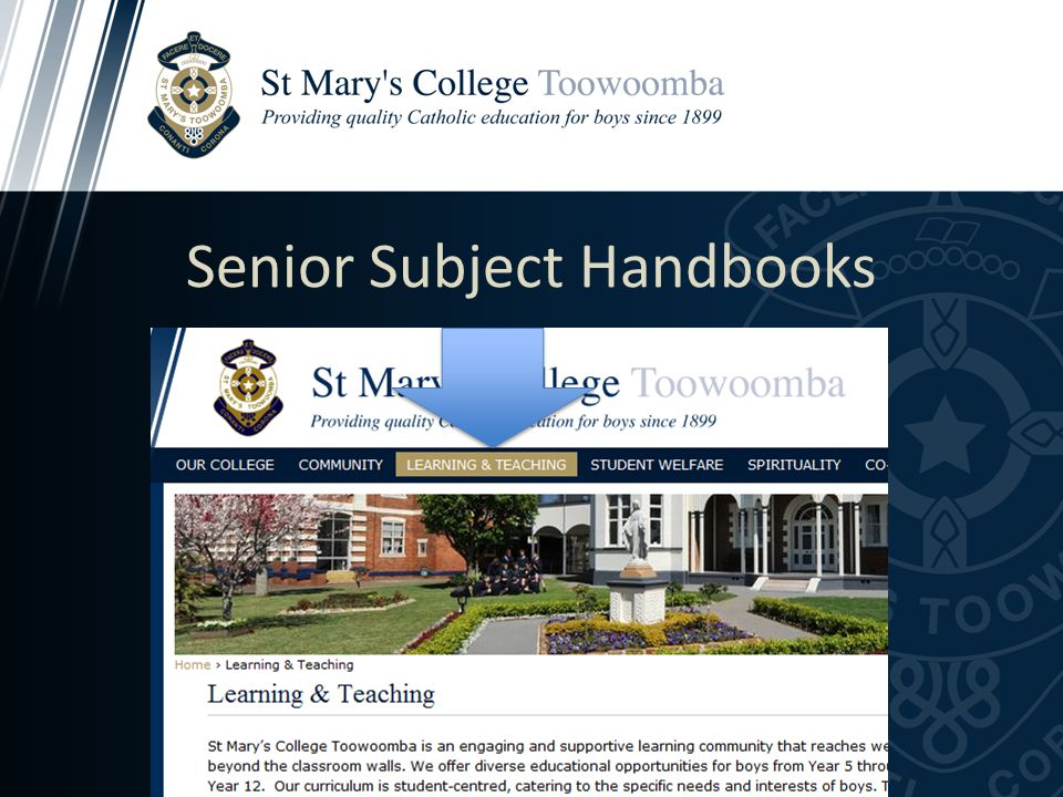 Senior Subject Handbooks