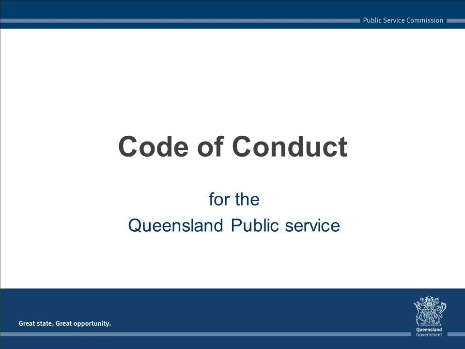 Go to Code of Conduct slide set 5: Principle 4: Accountability and transparency Code of Conduct for the Queensland Public Service Trainer instructions