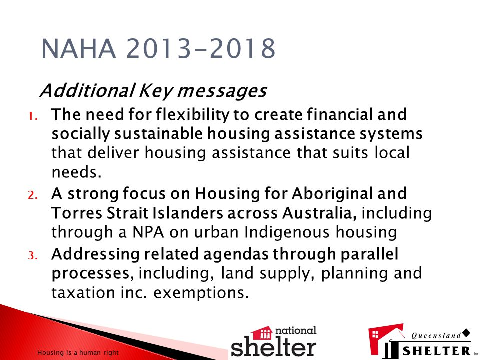 Additional Key messages 1.