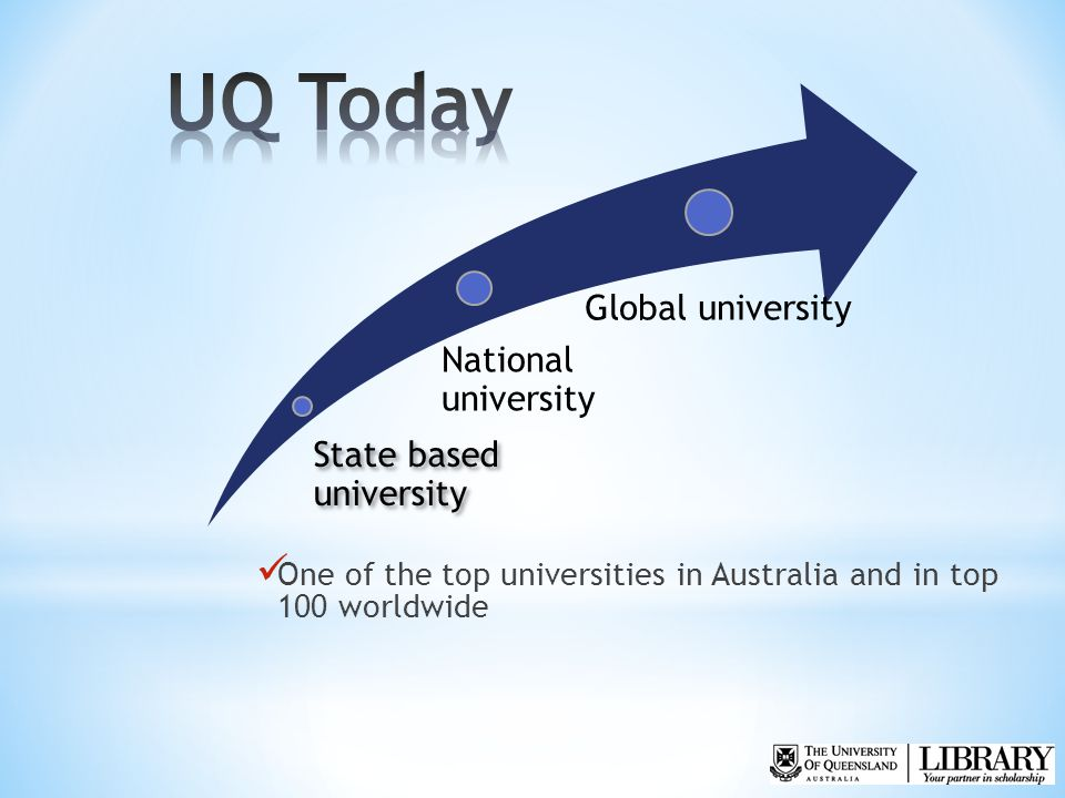 One of the top universities in Australia and in top 100 worldwide State based university National university Global university