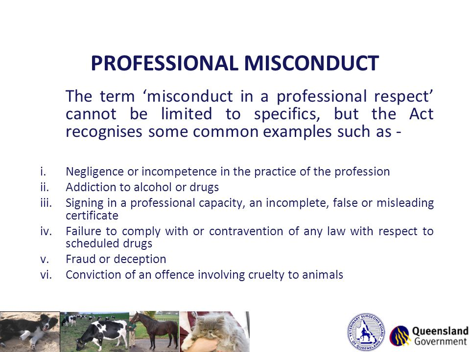 PROFESSIONAL MISCONDUCT The term 'misconduct in a professional respect' cannot be limited to specifics, but the Act recognises some common examples su