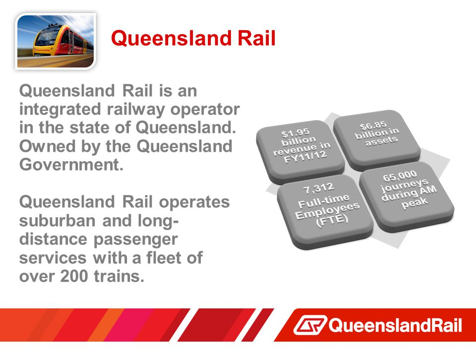 Queensland Rail Queensland Rail is an integrated railway operator in the state of Queensland.
