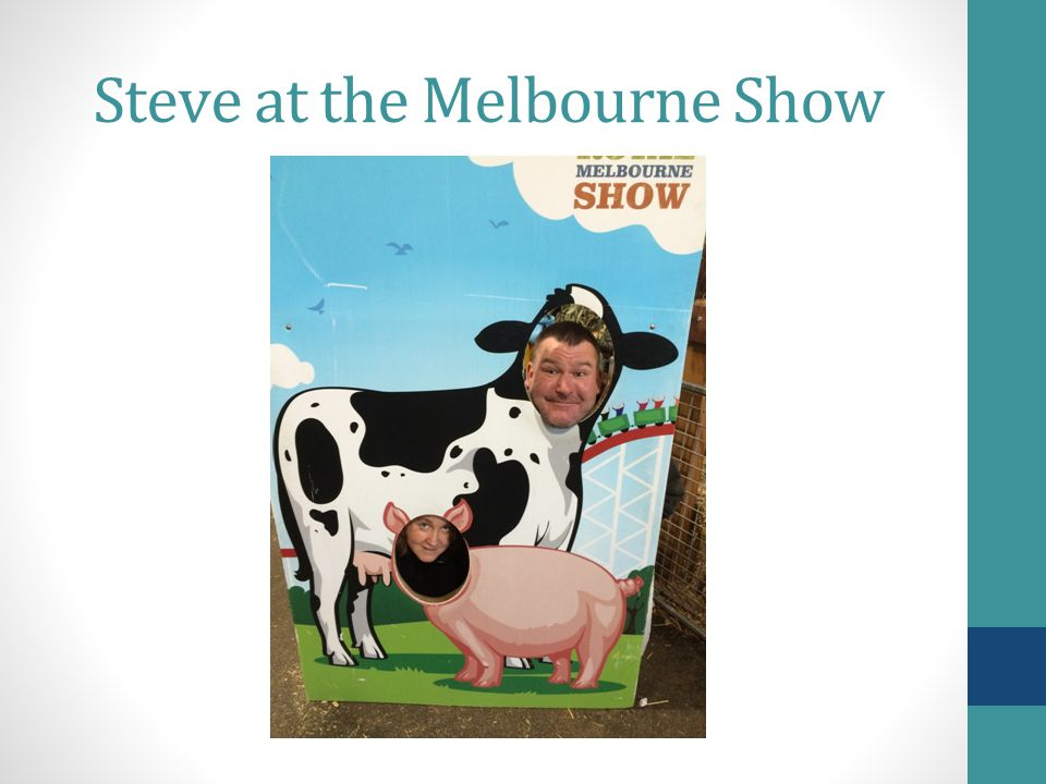 Steve at the Melbourne Show