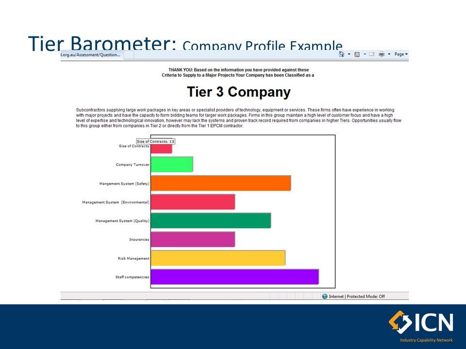 Tier Barometer: Company Profile Example