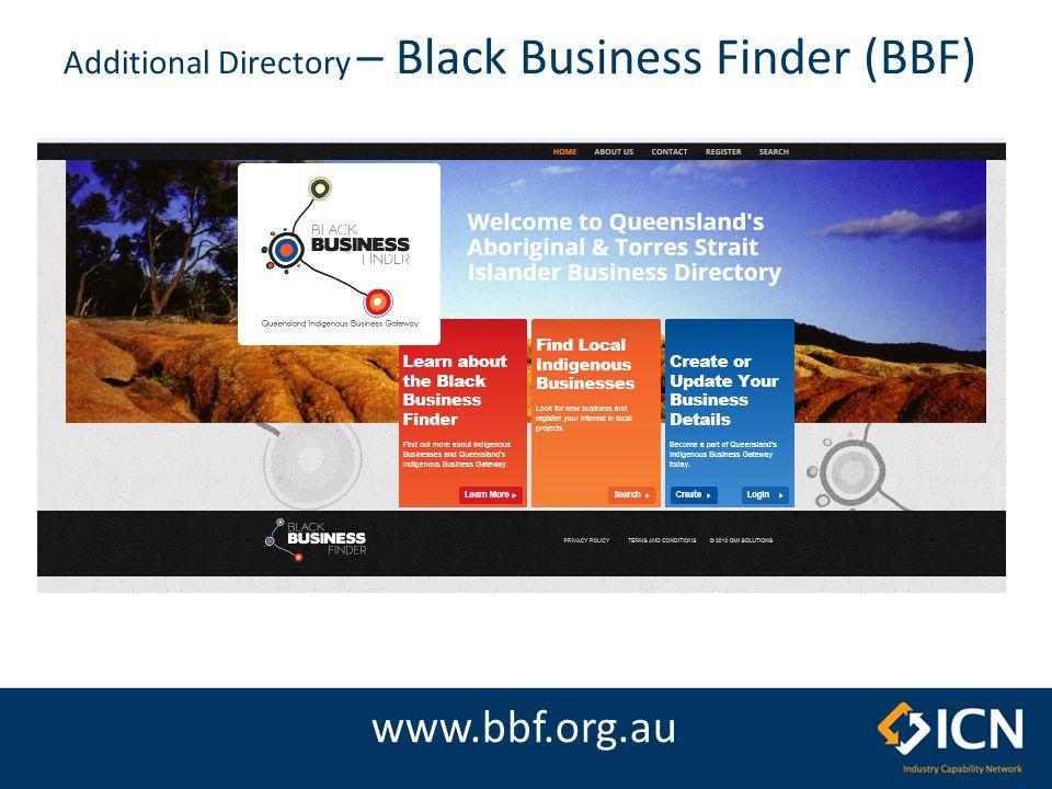 Additional Directory – Black Business Finder (BBF) www.bbf.org.au