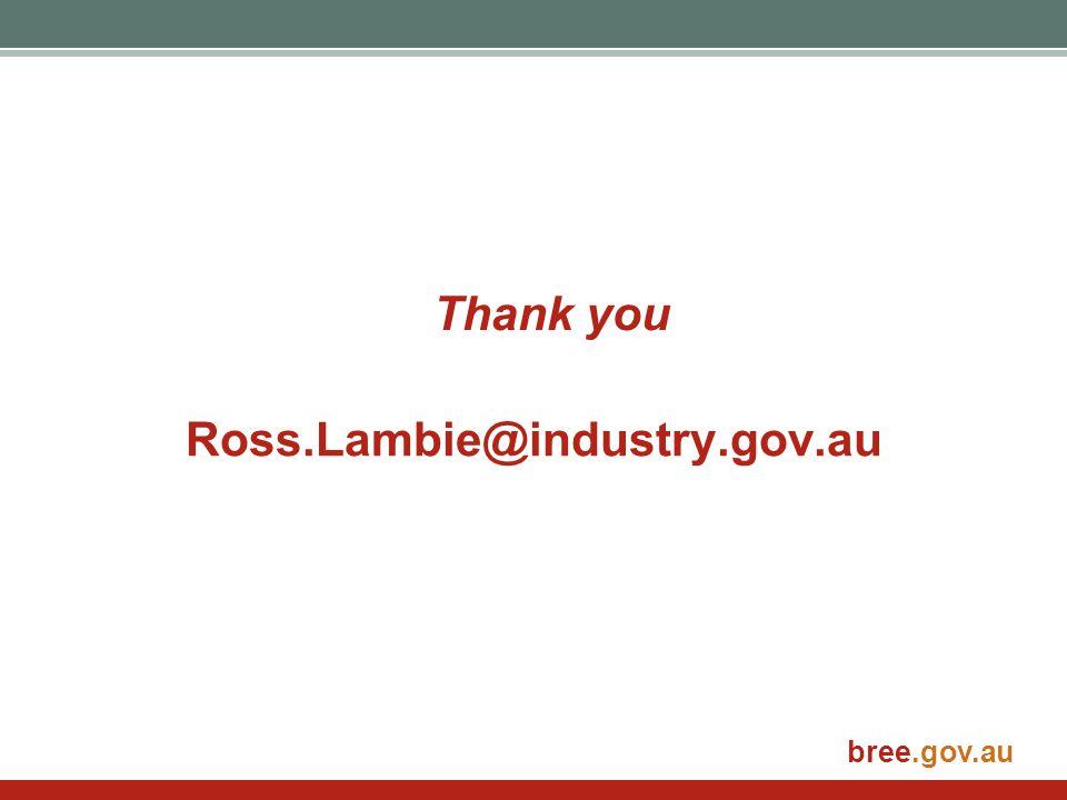 bree.gov.au Ross.Lambie@industry.gov.au Thank you