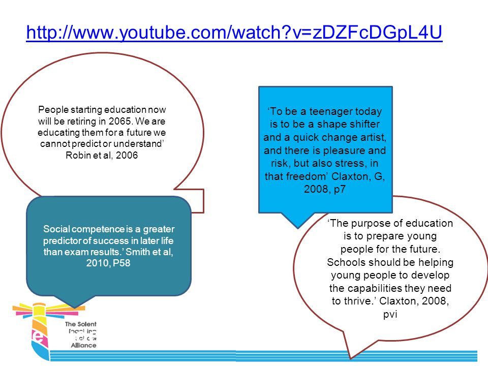 The Wider Context http://www.youtube.com/watch v=zDZFcDGpL4U People starting education now will be retiring in 2065.
