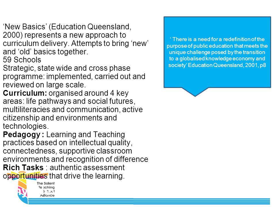 (Queensland Education, 2000) 'New Basics'
