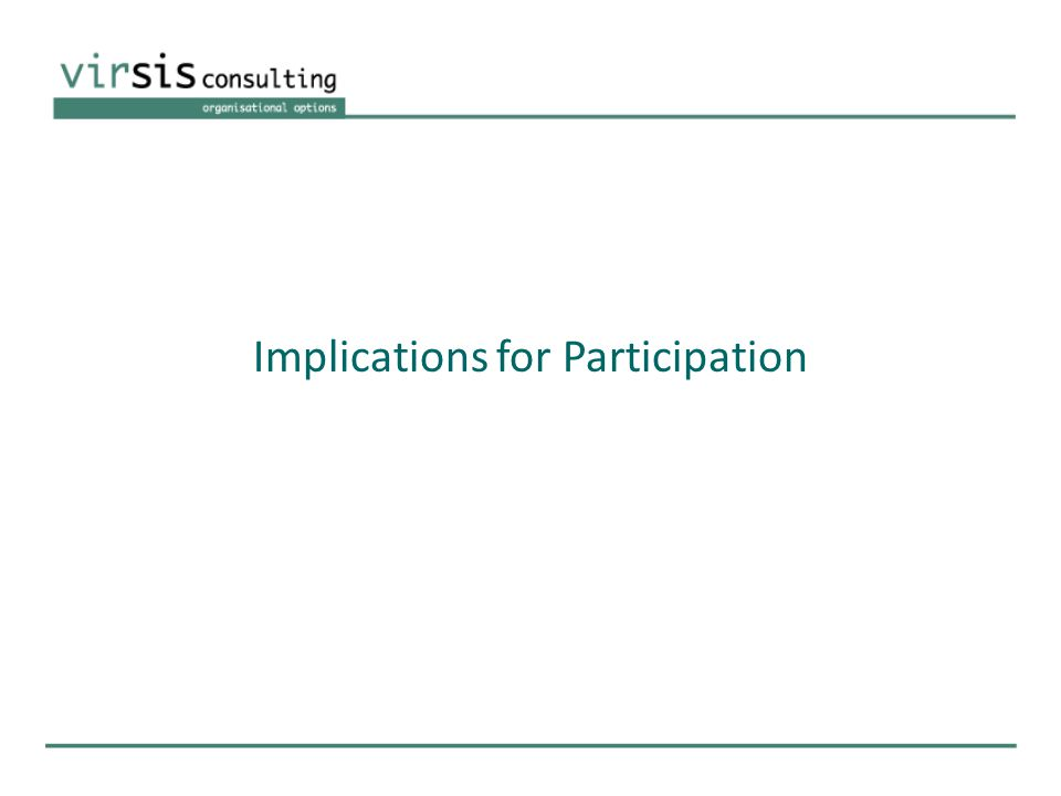 Implications for Participation