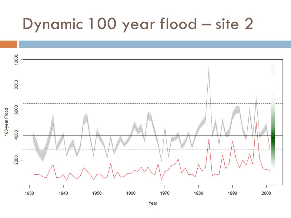Dynamic 100 year flood – site 2