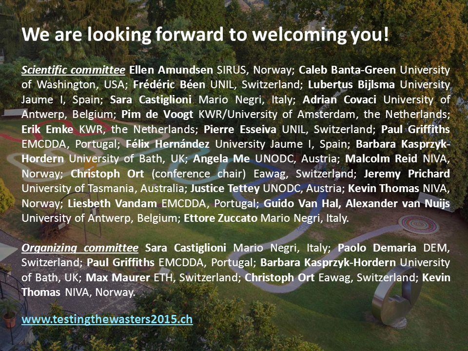 We are looking forward to welcoming you! Scientific committee Ellen Amundsen SIRUS, Norway; Caleb Banta-Green University of Washington, USA; Frédéric