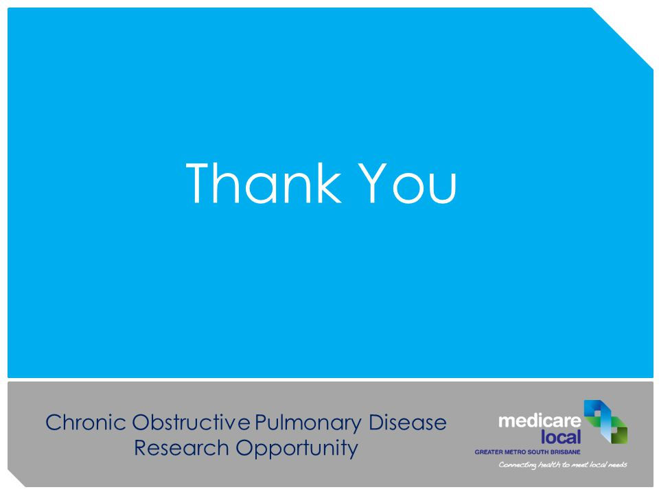 Chronic Obstructive Pulmonary Disease Research Opportunity Thank You