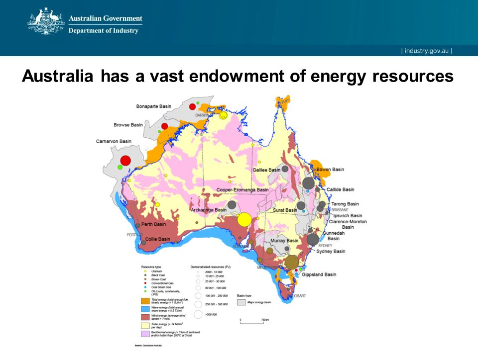 Australia has a vast endowment of energy resources