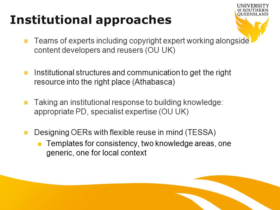 Collaborative approaches Collaborative communities, blogs and reviews Teams collaborating to share OER knowledge (S.