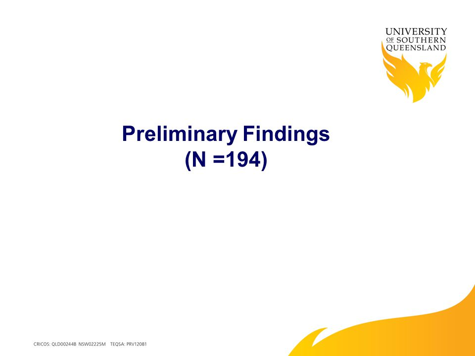 Preliminary Findings (N =194)
