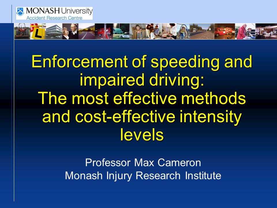 Elvik et al (2012) economic analysis of manual speed enforcement
