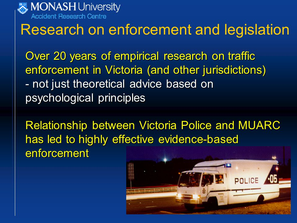 Best practice in drink-driving enforcement RBT in urban areas should be conducted for at least 20 hours per 100 square kilometres per week.