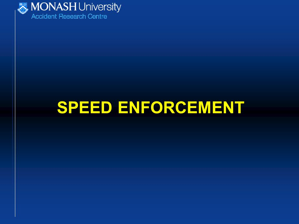 Covert mobile speed cameras on urban arterial roads