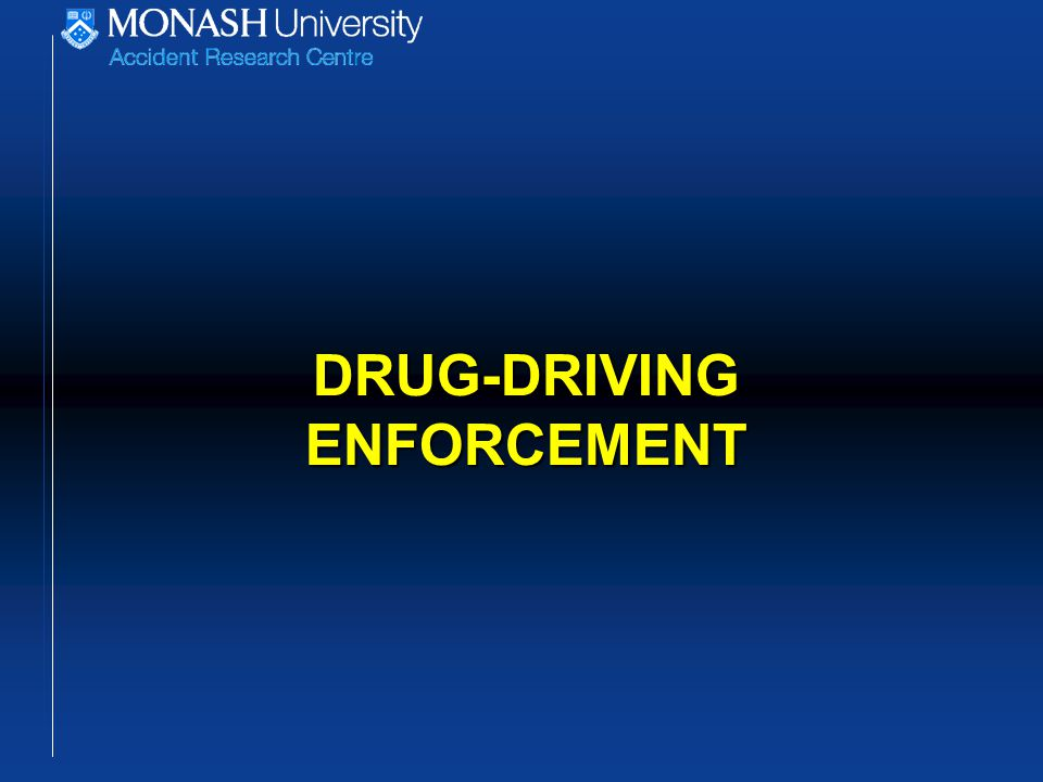 DRUG-DRIVING ENFORCEMENT