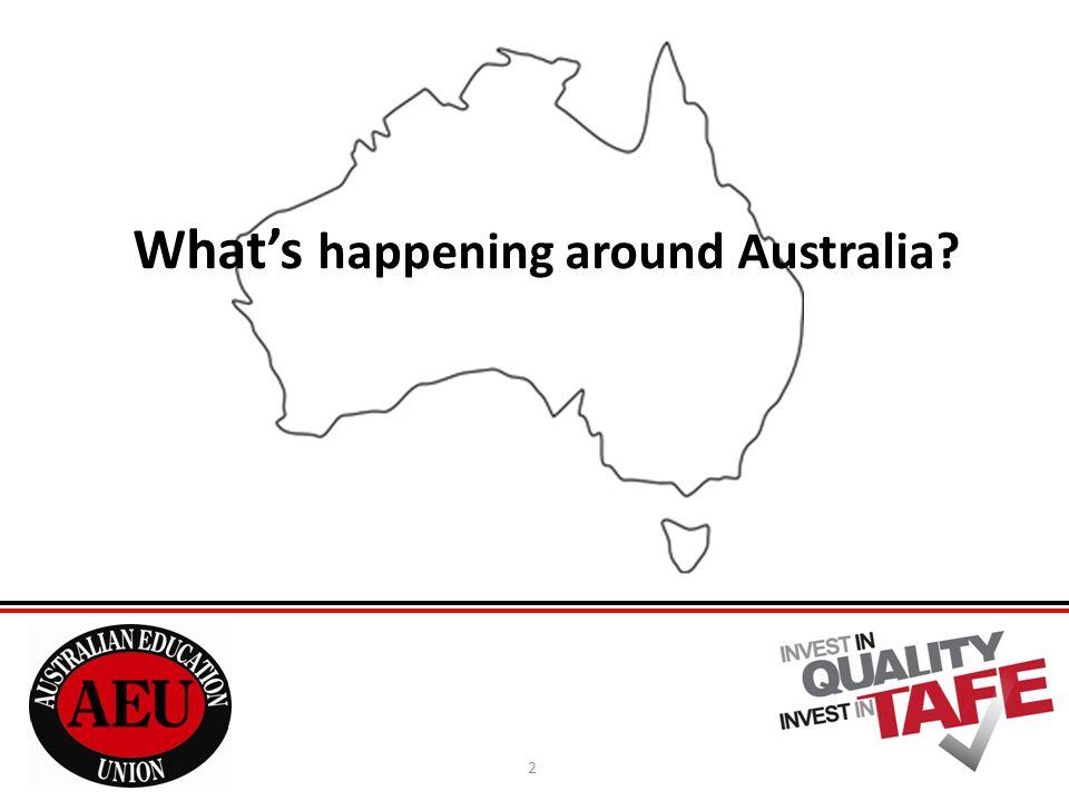 2 What's happening around Australia?